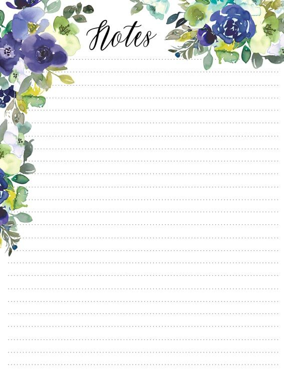 planner insert, dotted lines