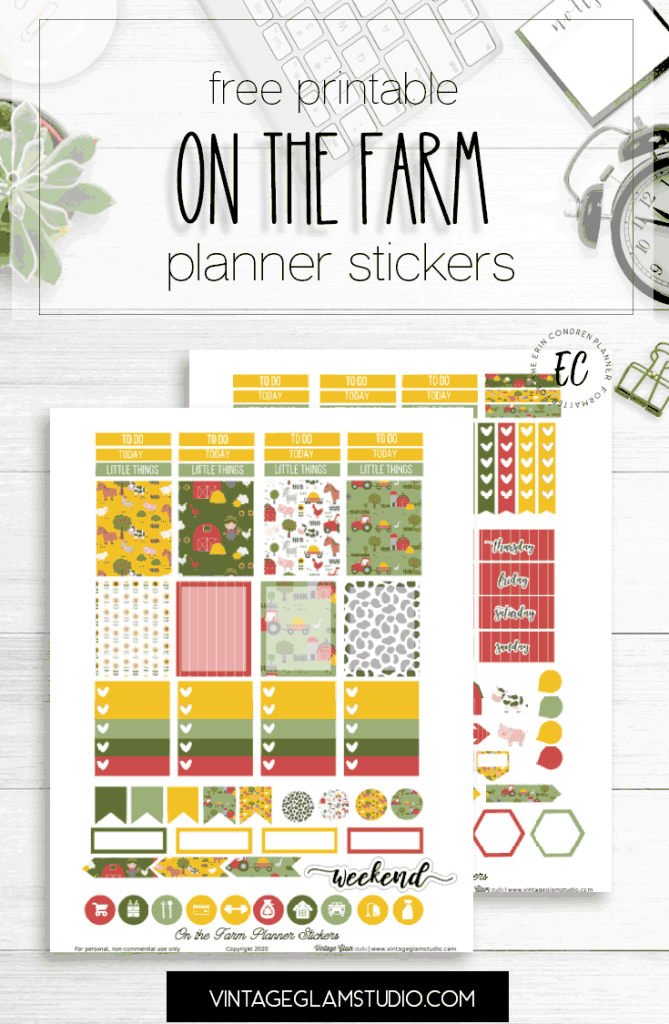 farm planner stickers printable