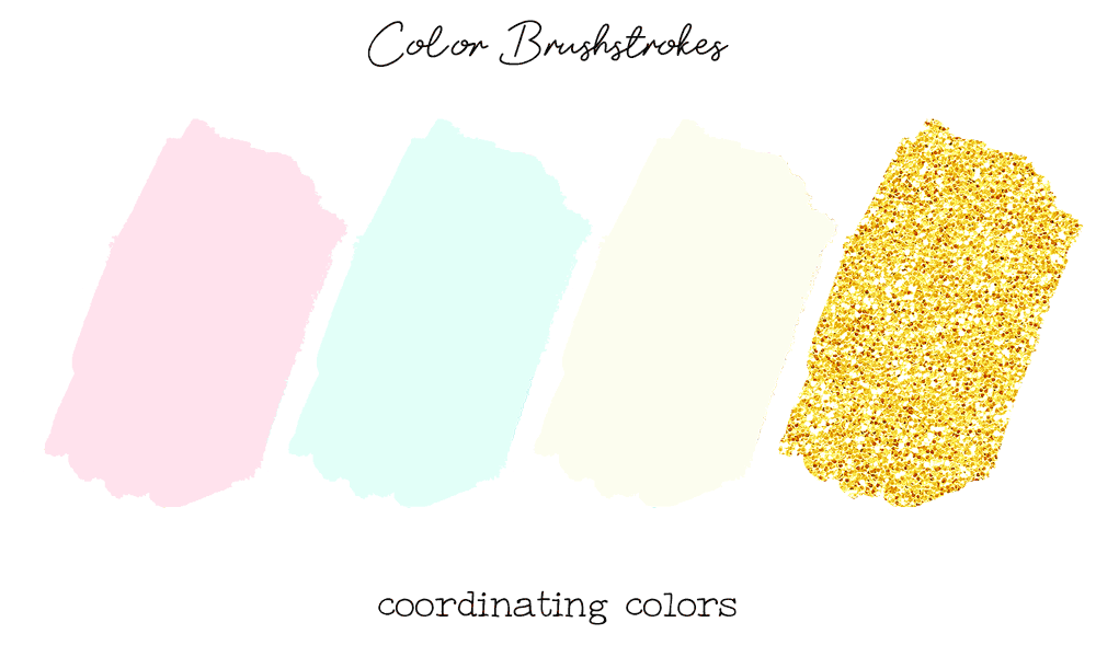 color theme planner stickers