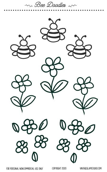 bee doodes planner stickers