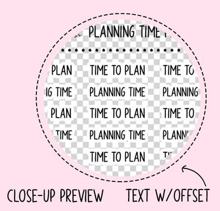 word planner stickers