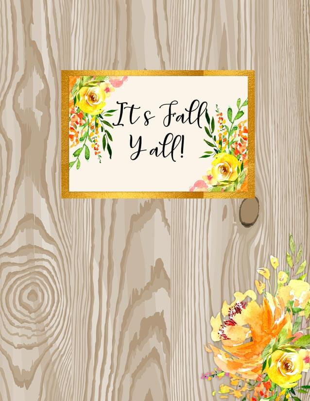 fall floral binder cover