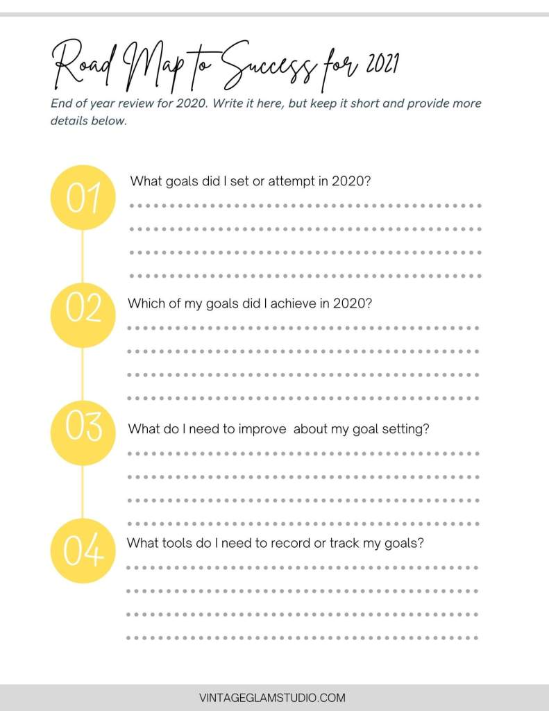 goals review checklist