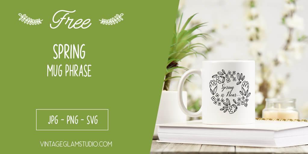 spring mug on table