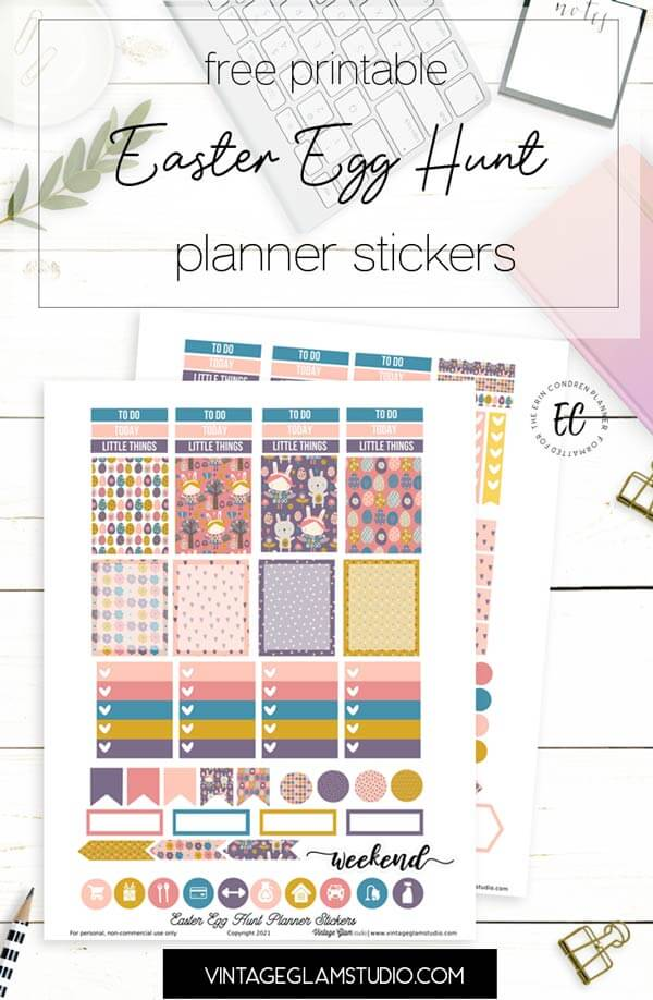 easter planner stickers printable