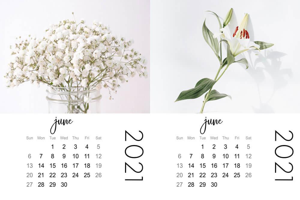 june mini calendars