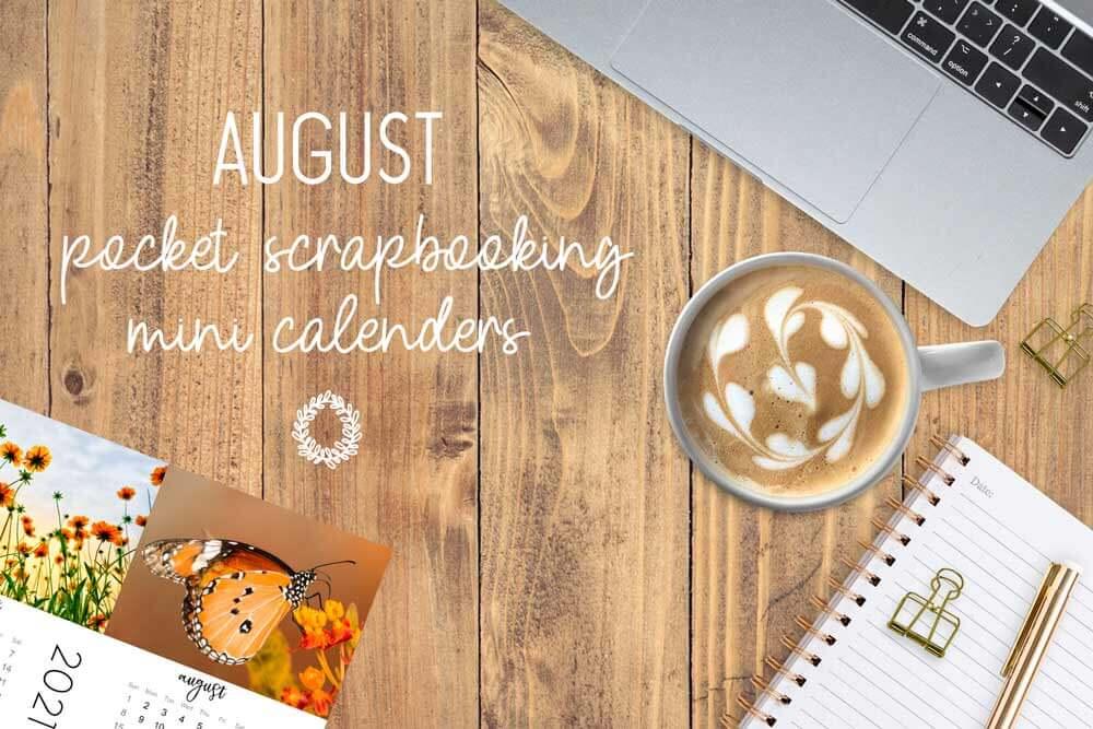 desktop flat-lay, mini calendars