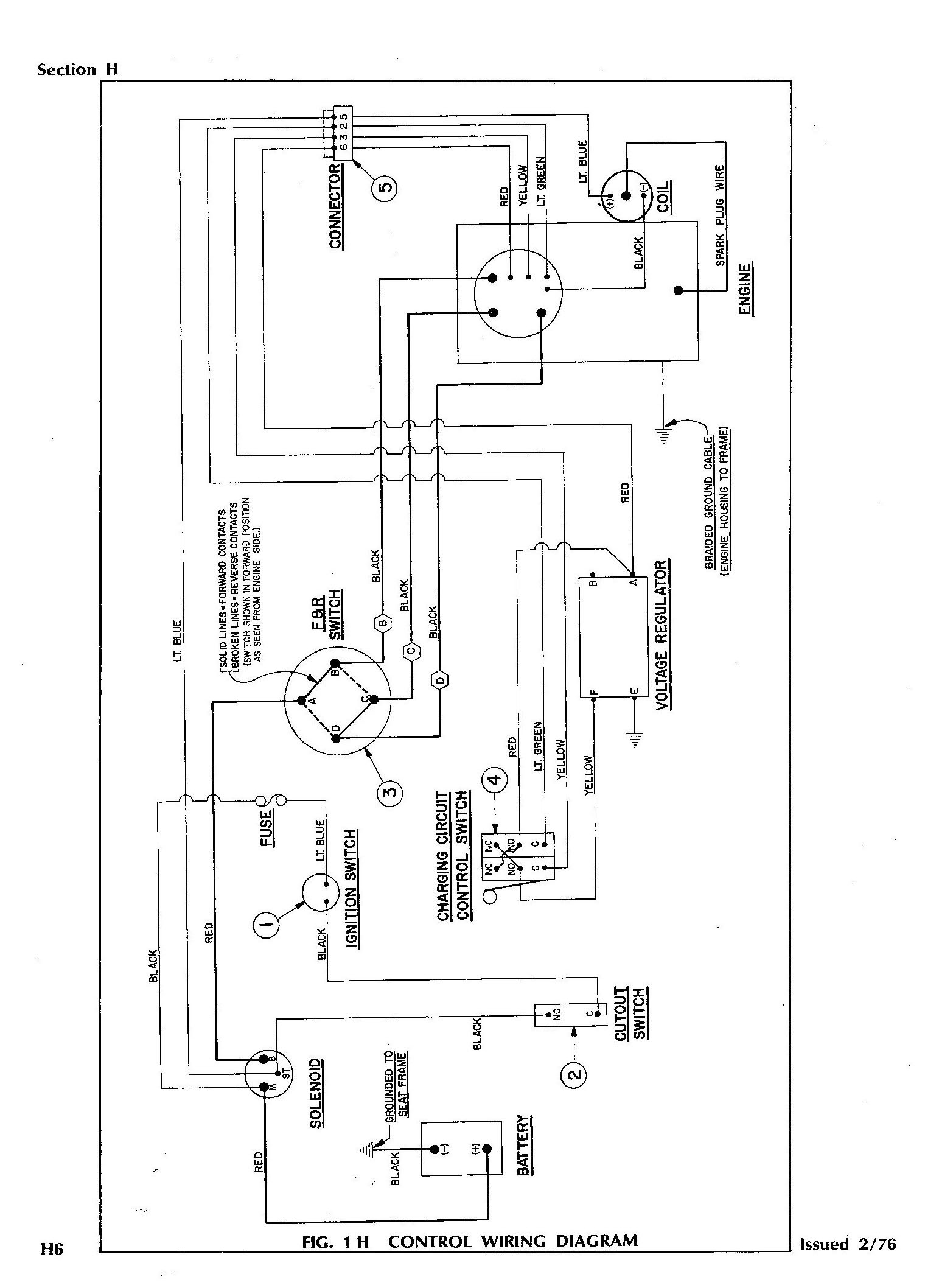 2000 ezgo gas wiring diagrams