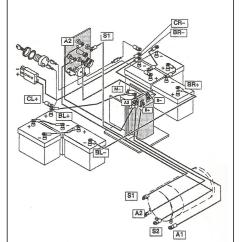 Ezgo Battery Wiring Diagram Vw Beetle 1976 For Golf Cart 36 Volt