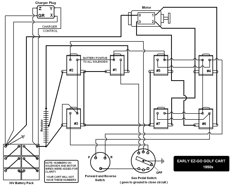 e z go battery wiring diagram