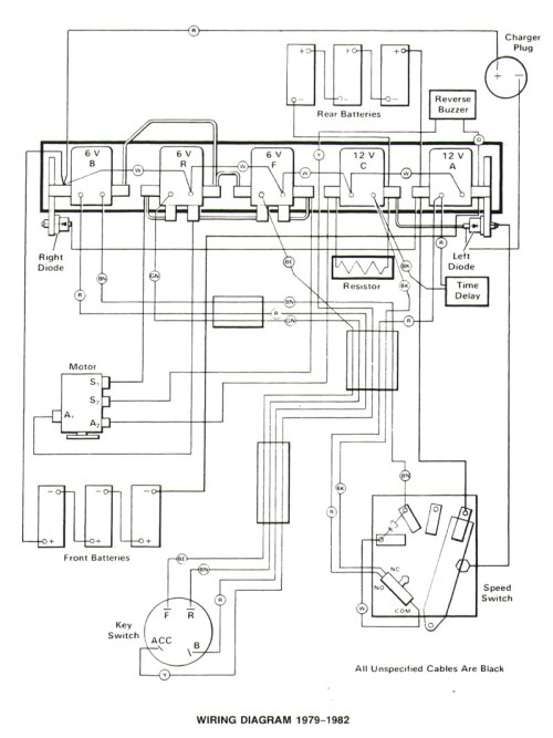 small resolution of 1982 club car electric wiring diagram get free image club car golf cart lights wiring diagram