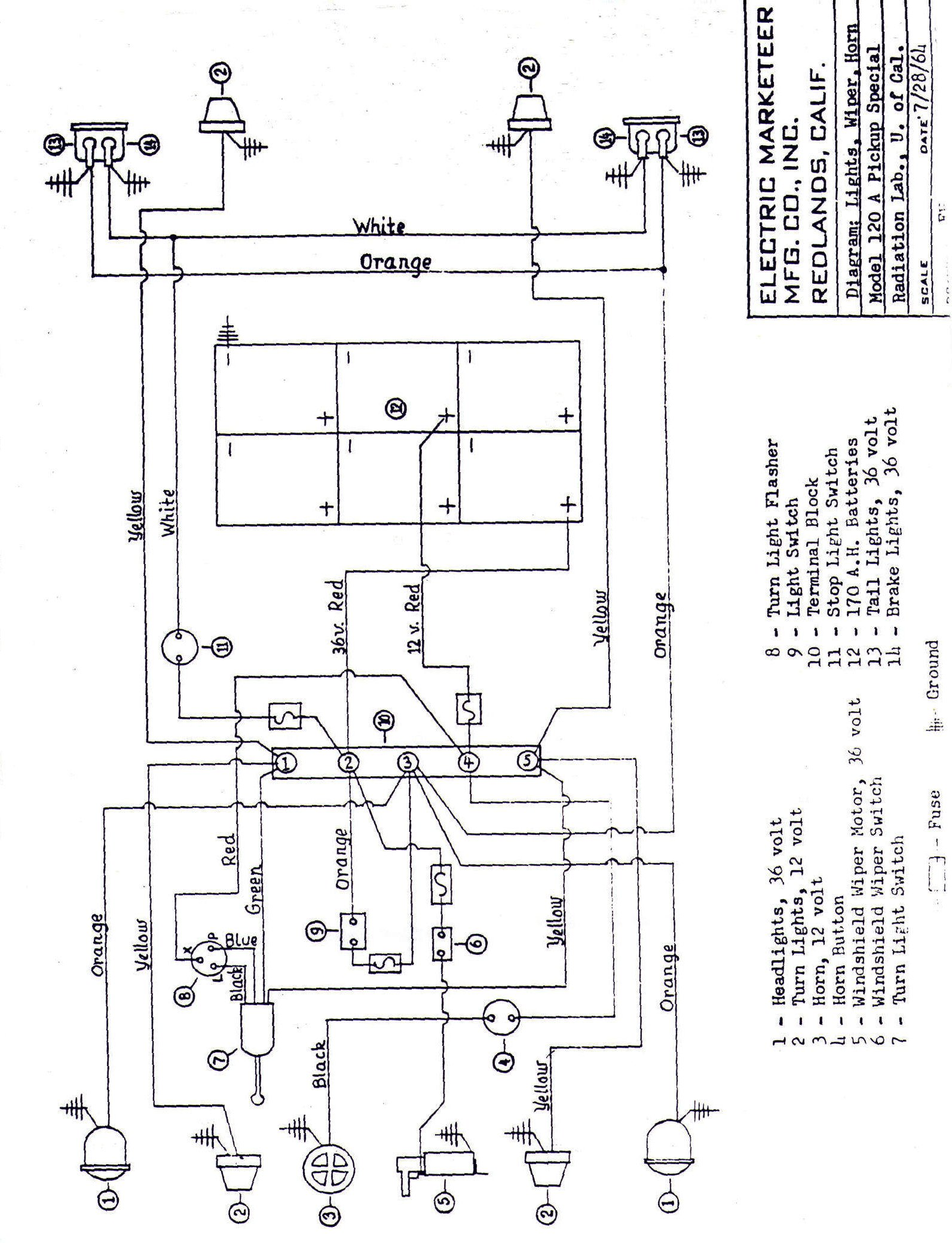 Club Car D Golf Cart Wiring Diagram