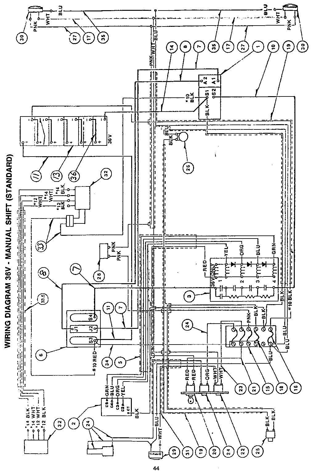 wiring diagram ez go workhorse mc400e best site wiring 2001 EZ Go TXT Wiring-Diagram EZ Go Electric Golf Cart Wiring Diagram