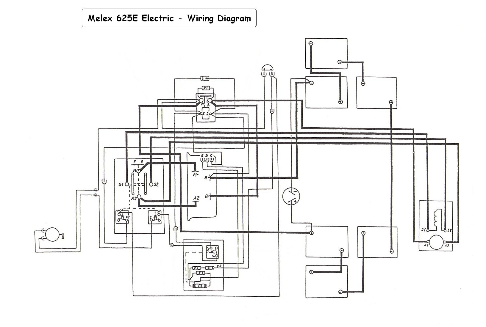 Columbia Par Car Gas Powered Electrical Schematic Wiring