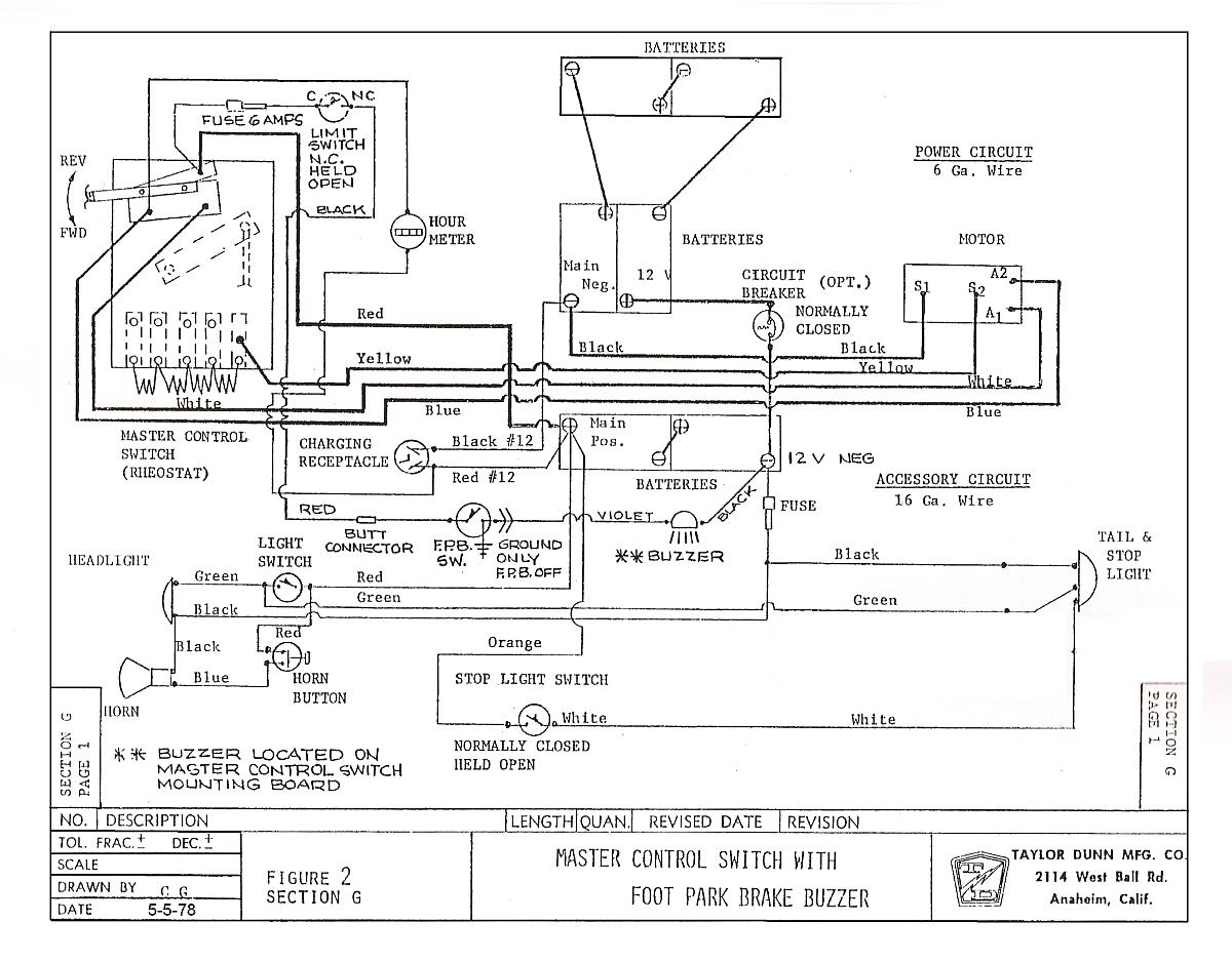 taylor dunn electric cart wiring diagram