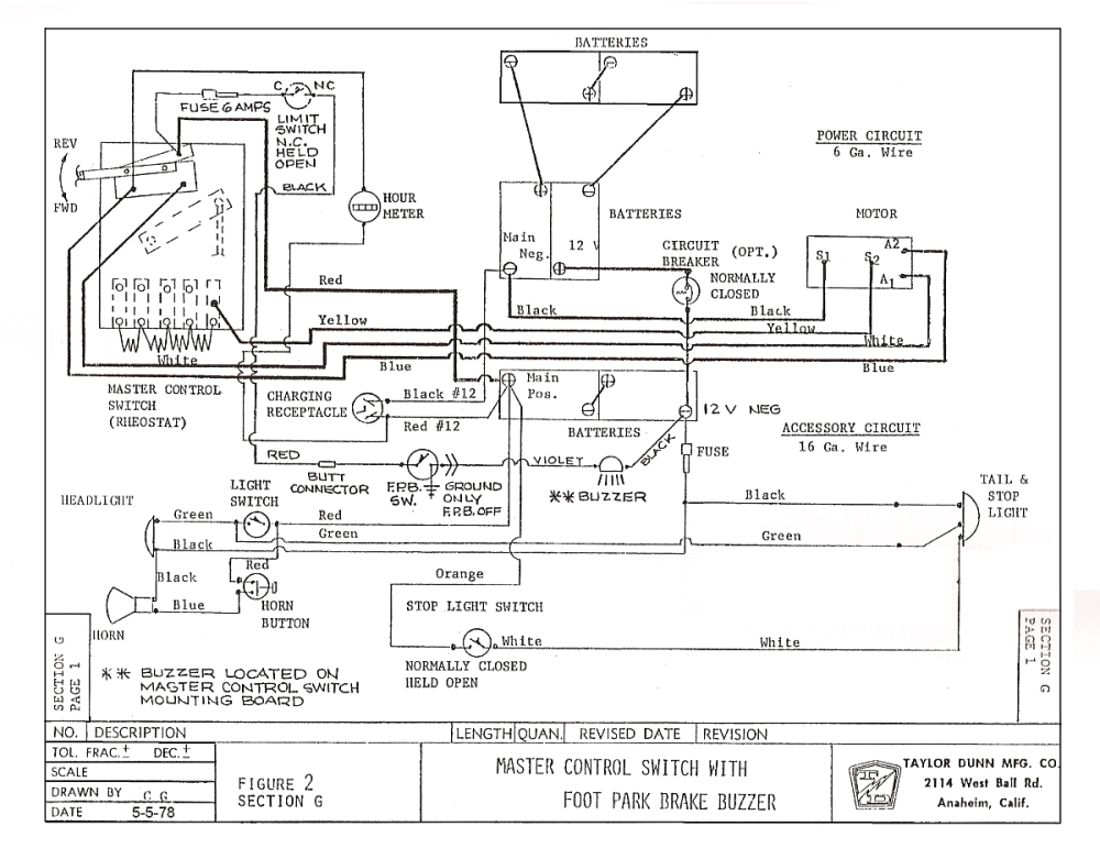 medium resolution of taylor dunn electric cart wiring diagram wiring diagram third level taylor dunn wiring diagram pdf 36 volt taylor dunn wiring diagram