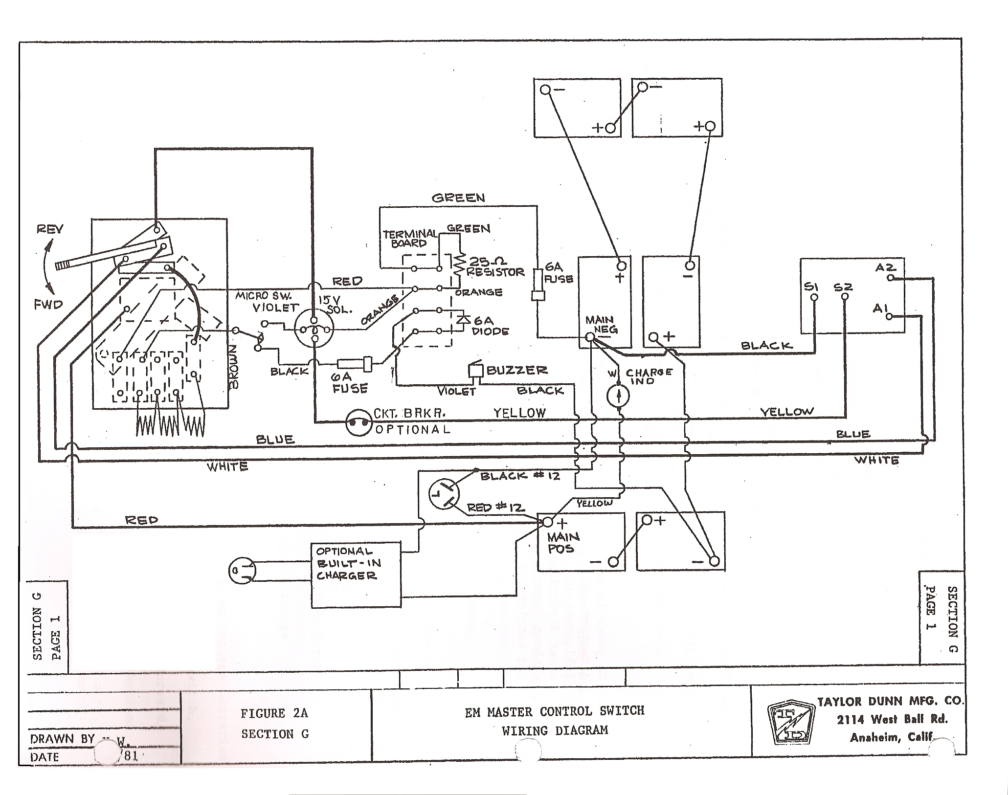 taylor dunn golf cart wiring diagram lzk gallery