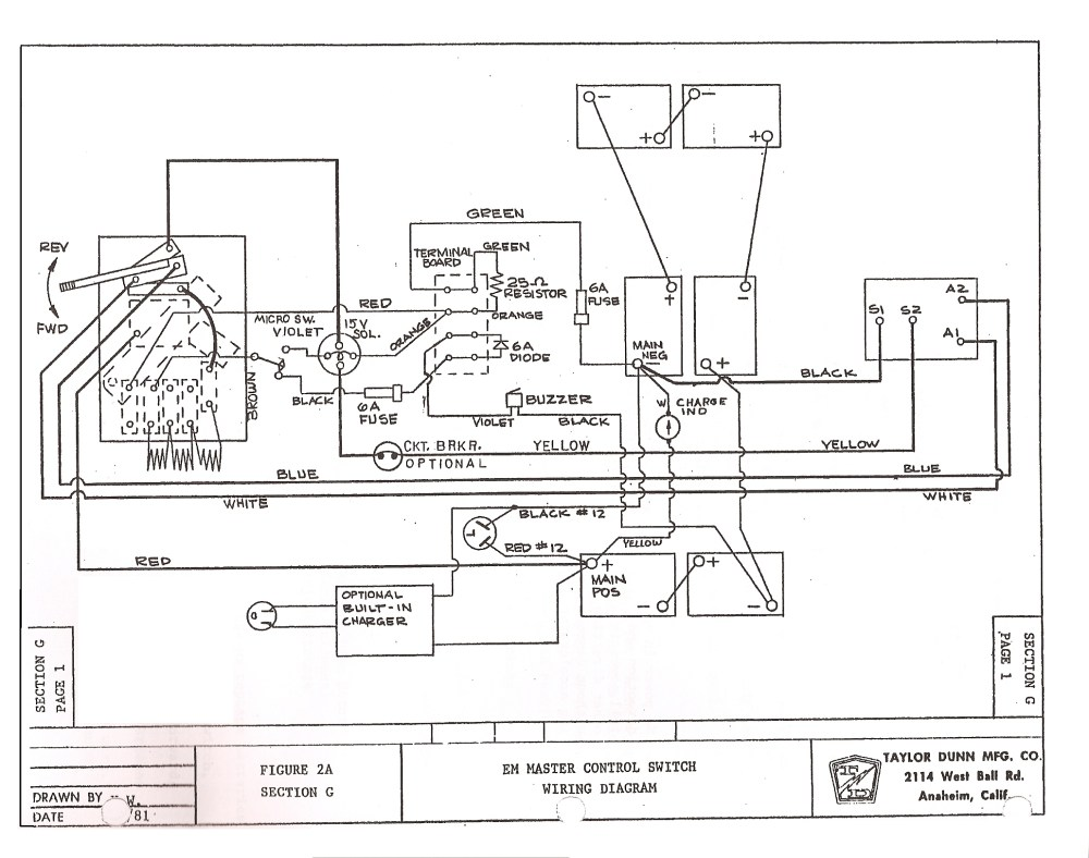 medium resolution of taylor dunn parts diagram wiring diagram todays melex 112 golf cart wiring taylor dunn wiring diagram
