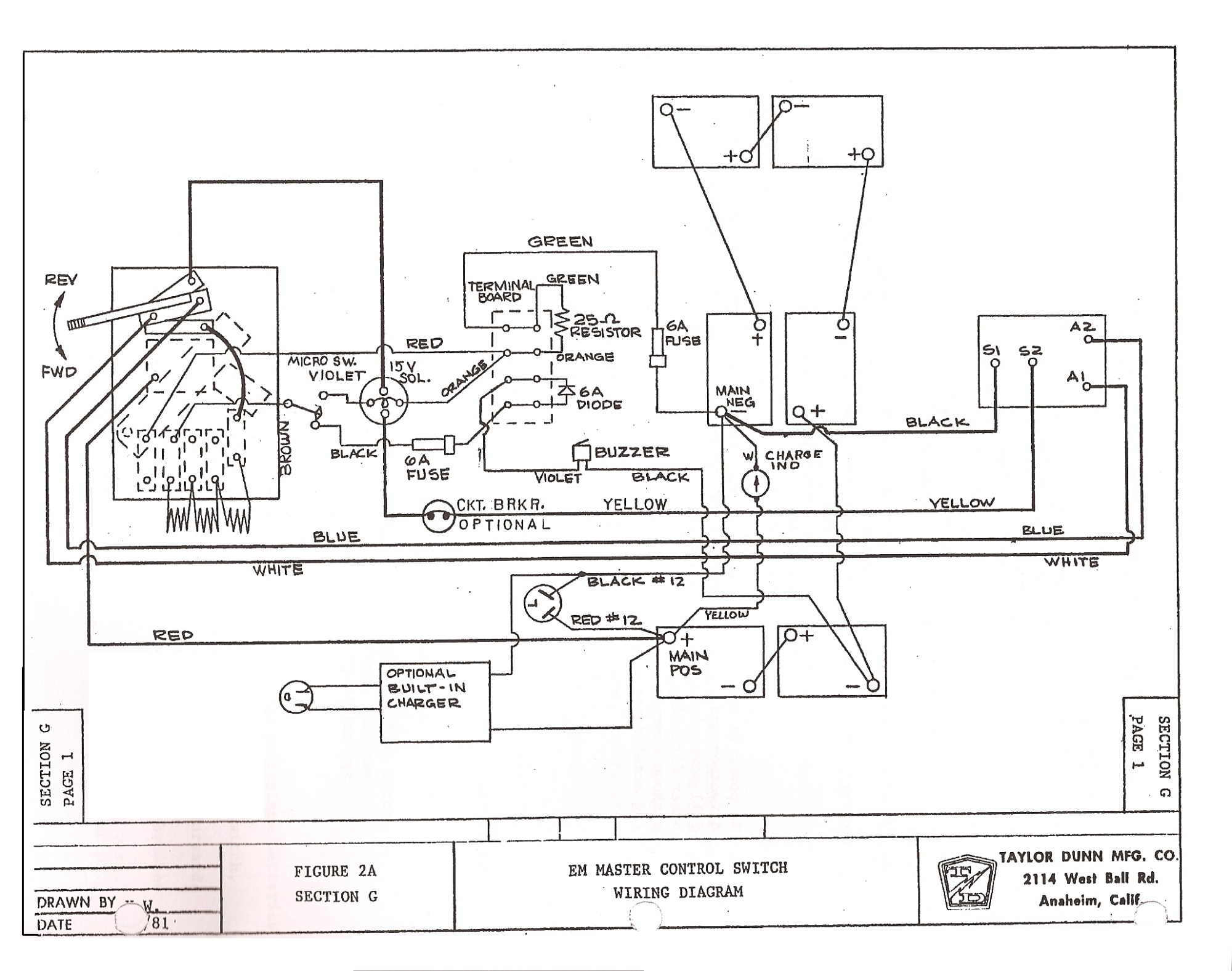 hight resolution of taylor dunn golf cart wiring diagram