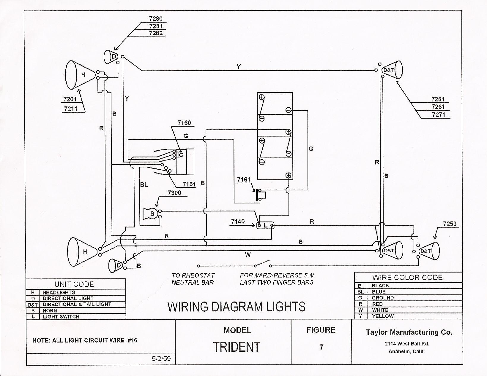 golf cart 36 volt wiring diagram 1949 ford 8n e z go clark