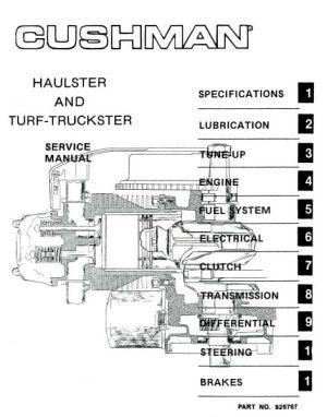 PU33100  Service Manual, Gas, '76'94  Vintage Golf Cart Parts Inc
