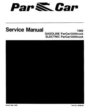 Service Manuals, Gas  Vintage Golf Cart Parts Inc
