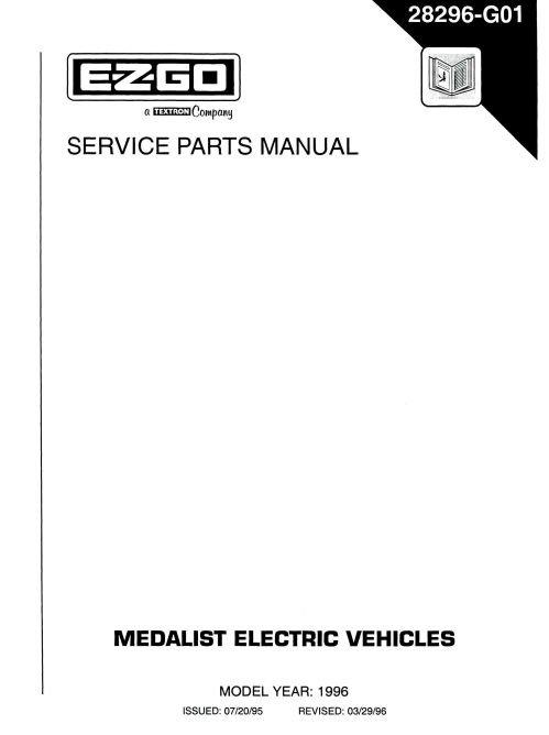 small resolution of pu22 380 parts manual electric 94 96