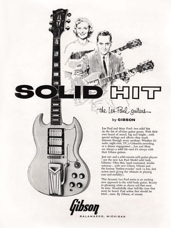 Gibson SG Gibson advertisement Solid Hit 1961