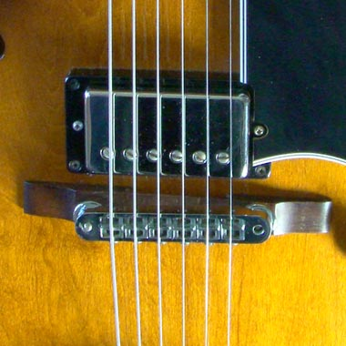 1979 Gibson ES-175D Pickup and bridge detail