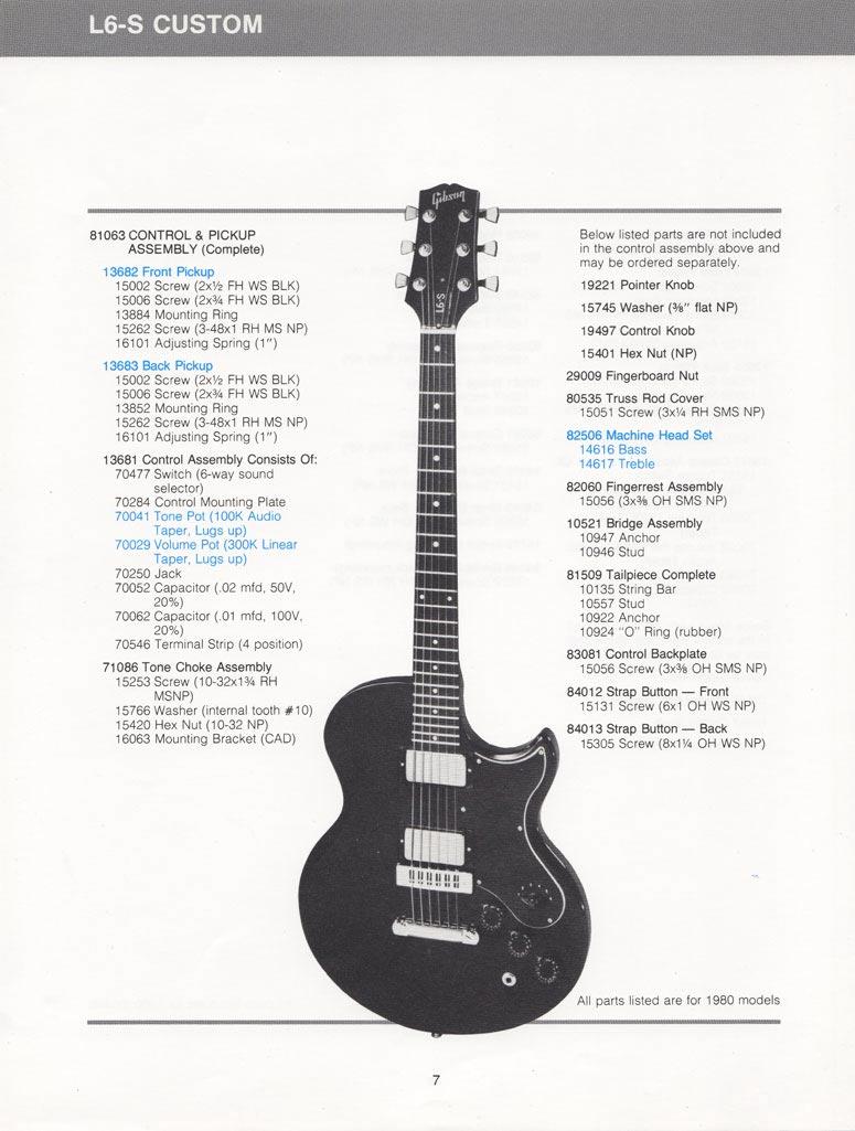 hight resolution of l6 s custom parts list