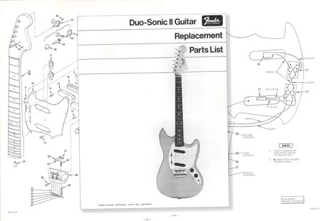 Fender Duo-Sonic Replacement Part List 1968 >> Vintage