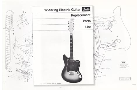 Fender 12-String Replacement Part List 1968 >> Vintage