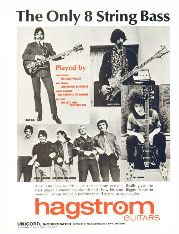 Hagstrom H8 Eight String Bass, 1968 Hagstrom advertisement