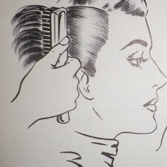 Pin Curl Diagram John Deere 455 Wiring Vintage Hair 1920s 1930s 1940s 1950s 1960s Right And Wrong Way To Hold Brush When Brushing Out Curls