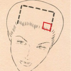 Vintage Pin Curls Diagram Rocker Switch Hair 1920s 1930s 1940s 1950s 1960s Section Off Square To Make The First Curl