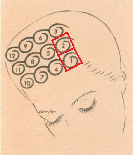 vintage pin curls diagram house electrical wiring of curl set hair 1920s 1930s 1940s 1950s 1960s