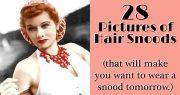 of vintage hair snoods