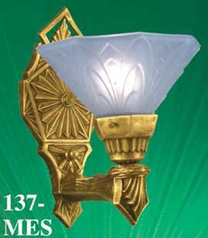 Vintage Hardware  Lighting  Glass Shade Recreated Art