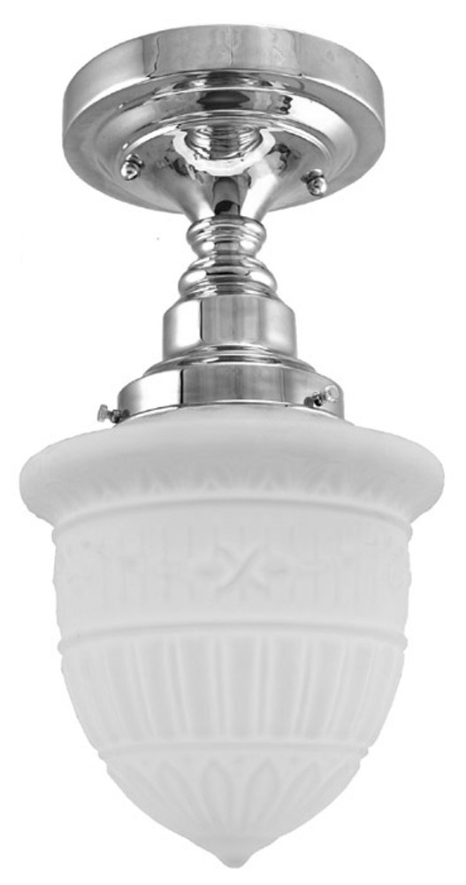 Close Ceiling Light Schoolhouse Style With 4 Inch Fitter