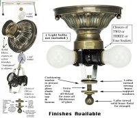 222 Series Close Ceiling Light Mounting Kit (222-2L-PB)