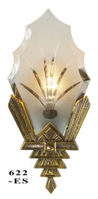 Vintage Hardware & Lighting - Art Deco Wall Sconces Cut ...