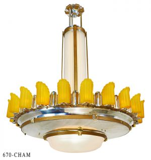 54 Diameter Art Deco Empire Series Chandelier Large Commercial Lighting Led Lights 670