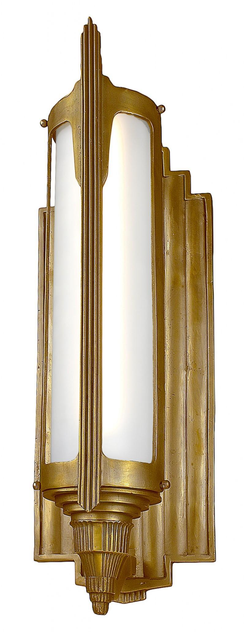 art deco brass bronze outdoor entrance light 88 wes