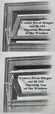 Vintage Hardware  Lighting  Transom Window Pivot Hinges