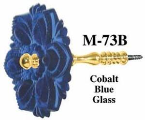 pressed glass curtain tieback cobalt blue m 73b