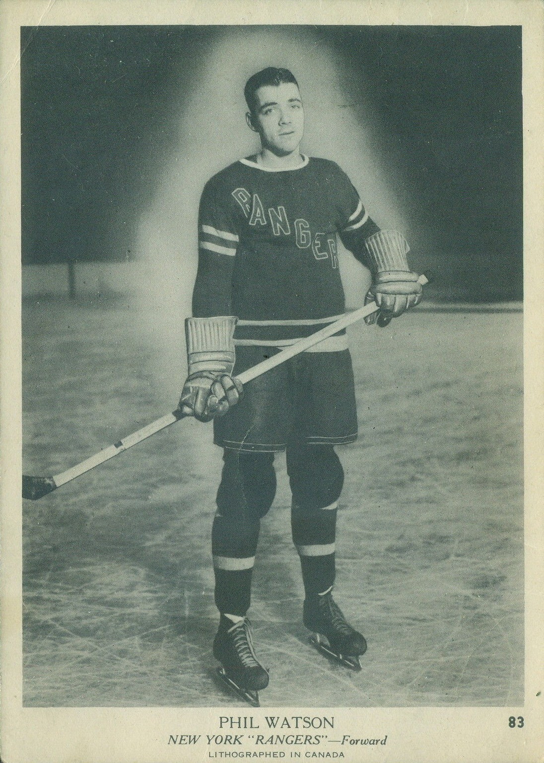 Phil Watson A Star During The Dark Ages Of Hockey Cards