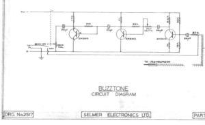 Selmer Buzztone Pedal Schematic