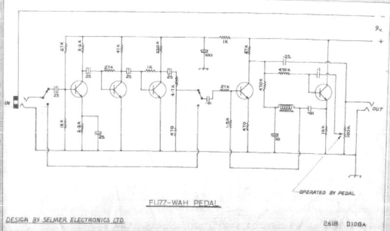 Selmer Fuzz-Wah Pedal Schematic