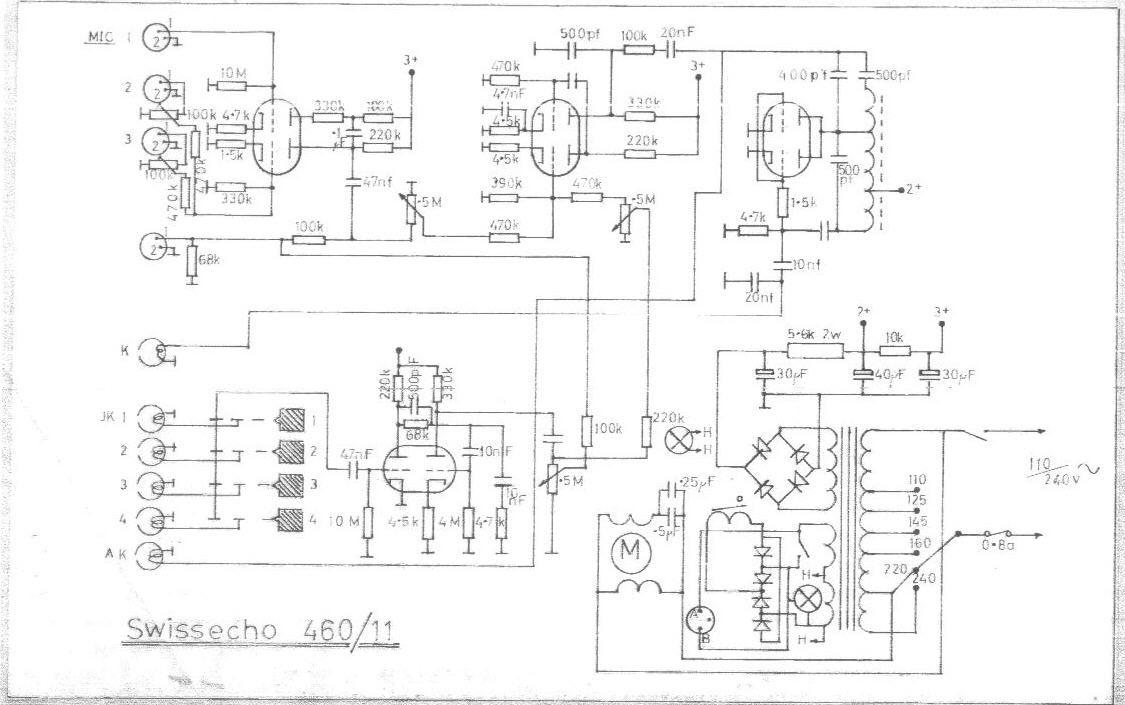 Swissecho 460/11 Echo Unit Schematic