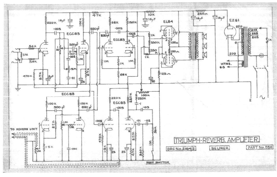 Selmer Triumph Reverb Schematic